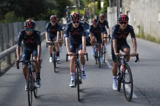 NICE FRANCE AUGUST 27 Egan Bernal of Colombia Pavel Sivakov of Rusia Richard Carapaz of Ecuador and Team INEOS Grenadiers during the Team INEOS Grenadiers Training TDF2020 LeTour on August 27 2020 in Nice France Photo by Tim de WaeleGetty Images
