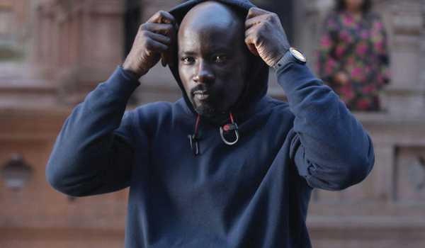 Luke Cage pulling up his hood