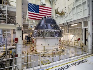 The Orion capsule shown here will make NASA's first Artemis mission, an uncrewed test flight to the moon.