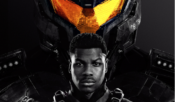 Pacific Rim Upfrising John Boyega ready for action with a Jaeger.