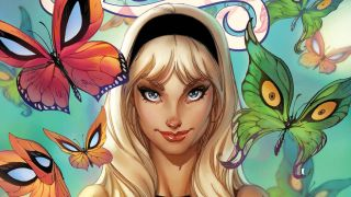 cover to 2020's Gwen Stacy #1 variant cover by J. Scott Campbell