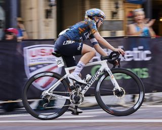 Skylar Schneider (L39ION of Los Angeles) at the women's elite race at the USA Cycling Pro Road Championships 2021