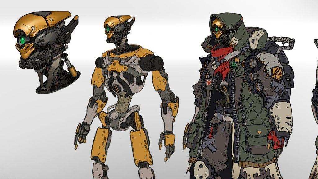 Borderlands 3 Fl4K concept art finally reveals the robot behind the shroud