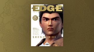 An image of Ryo from Shenmue 3 in Edge magazine