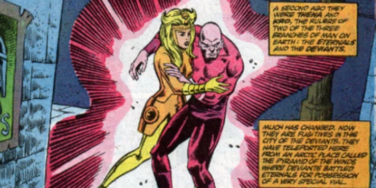 Kro and Thena in the Eternals Comics