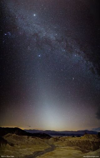 Zodiacal Light over Death Valley