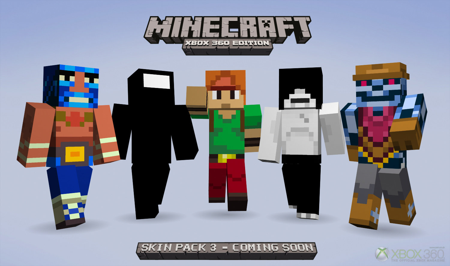 Minecraft xbox 360 skin pack 3 adds half life 2 portal 2 for Mine craft for xbox