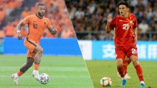North Macedonia vs Netherlands live stream at Euro 2020 — Memphis Depay of Netherlands and Elif Elmas of North Macedonia