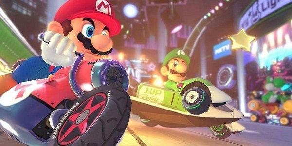mario and luigi racing