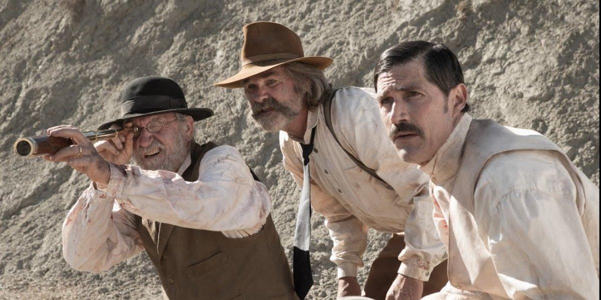 Richard Jenkins, Kurt Russell, and Matthew Fox in Bone Tomahawk