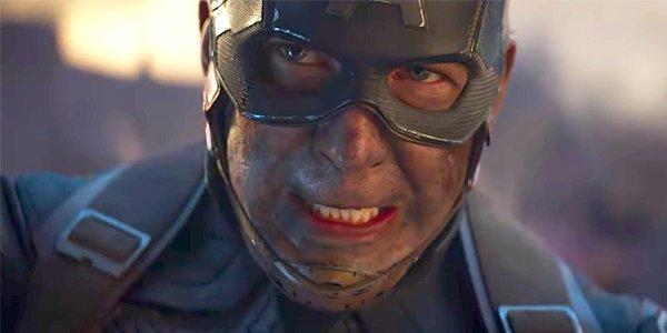 Captain America closeup in Avengers Endgame