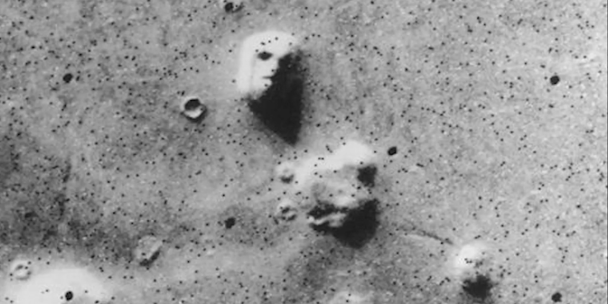 The face on Mars from a NASA video