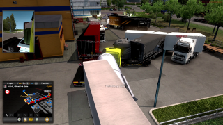 TruckersMP's Calais to Duisburg road, and the many trucks and crashes that occur.