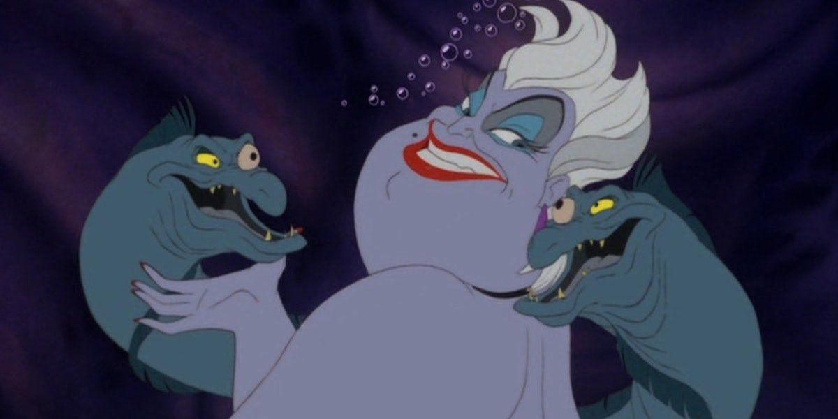 Flotsam and Jetsom with Ursula in The Little Mermaid