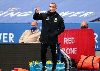 Leicester City manager Brendan Rodgers on the touchline during the Premier League match at The King Power Stadium, Leicester.