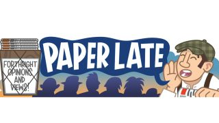 paper late cartoon header