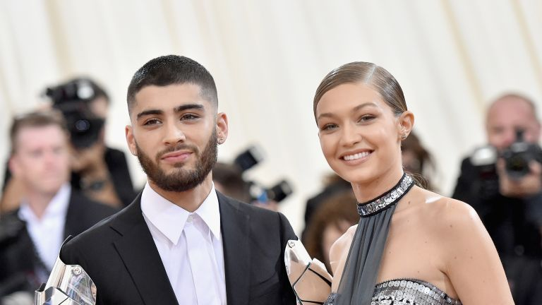 "Zayn Malik (L) and Gigi Hadid attend the ""Manus x Machina: Fashion In An Age Of Technology"" Costume Institute Gala at Metropolitan Museum of Art on May 2, 2016 in New York City"