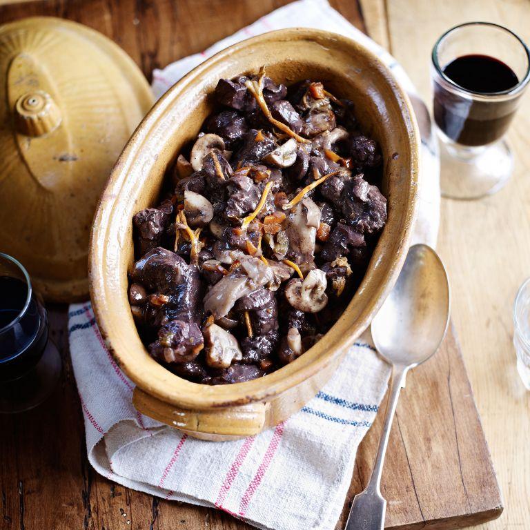 Venison Stew with Wild Mushrroms