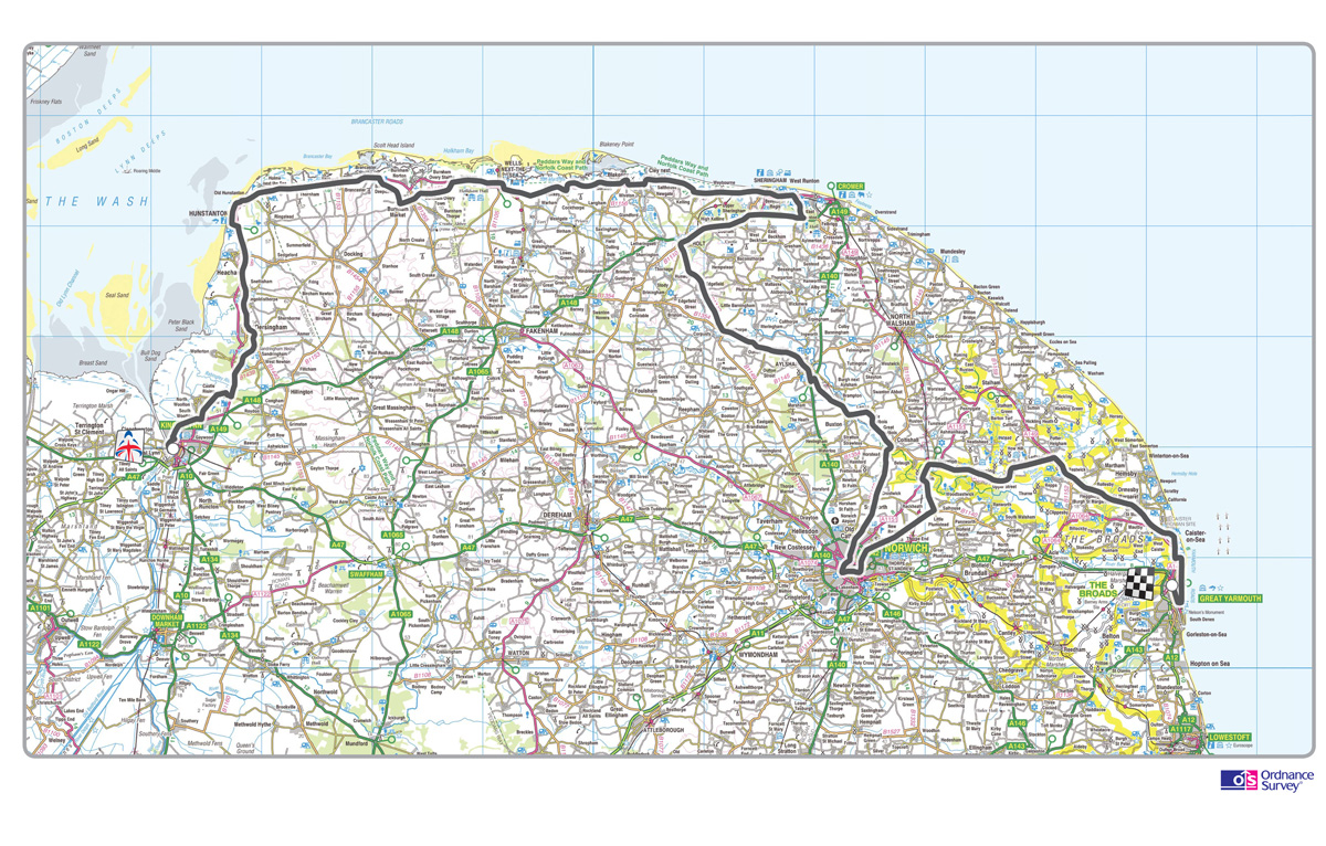 tour of britain stage map, tour of britain, tob, stage