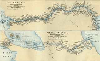 Nicaraguan canal option from 1885