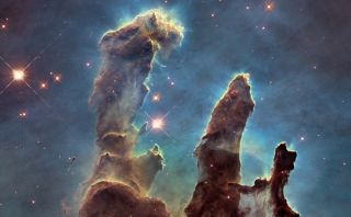 These towers of cosmic dust and gas make up part of the Eagle Nebula.