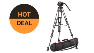 Save $460 on Manfrotto head and carbon fiber video tripod kit