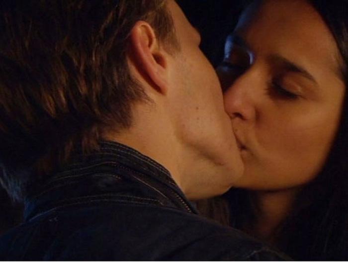 Rani and Harley kiss