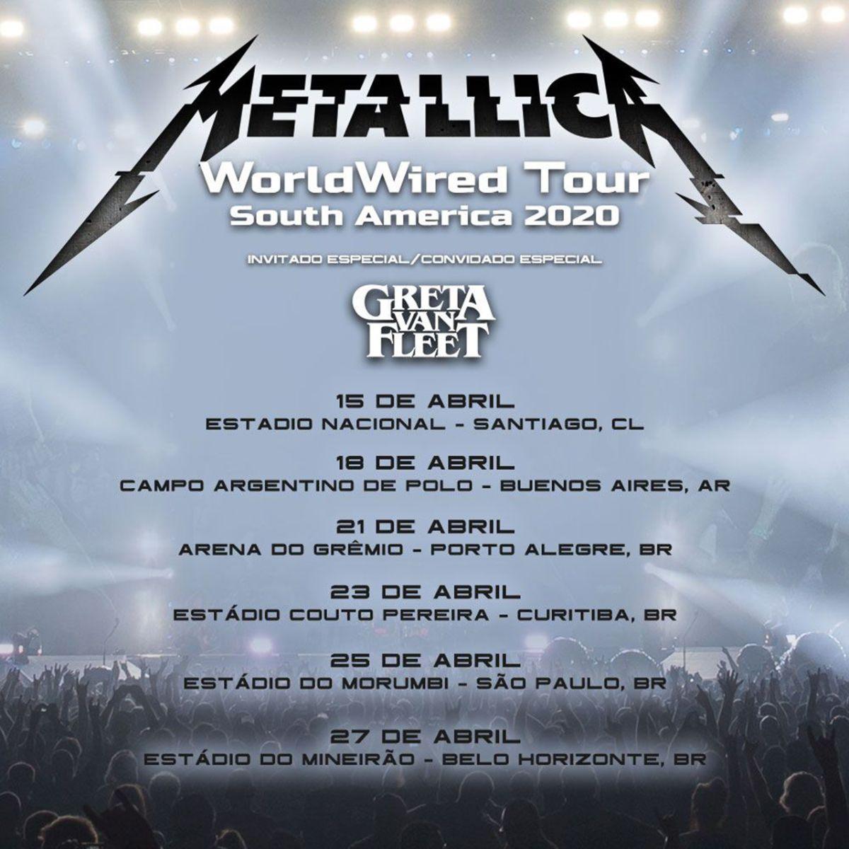 Greta Van Fleet Tour Dates 2020.Metallica To Tour In 2020 With Greta Van Fleet Louder