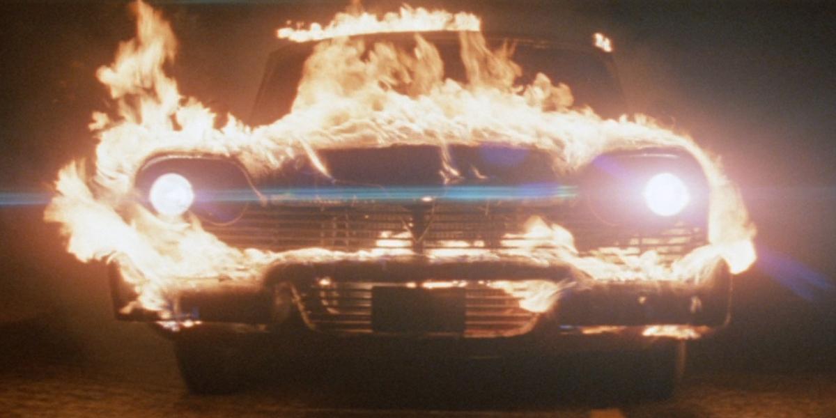 Christine on fire in Christine