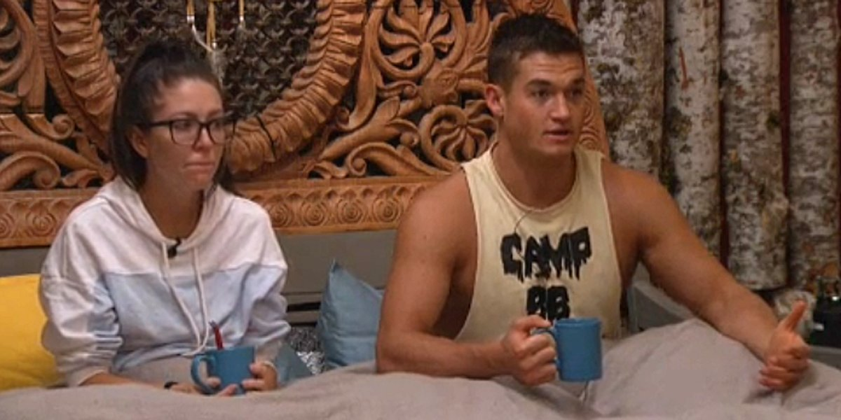 Big Brother 21 Holly and Jackson in HoH bed CBS