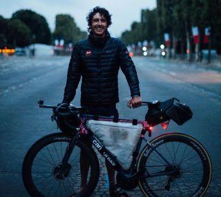 Lachlan Morton reached Paris to complete his Alt Tour de France