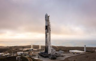 A SpaceX Falcon 9 rocket, seen here ahead of the Iridium-8 launch in 2019, will launch a fifth flight on May 17, 2020 to deliver 60 Starlink internet satellites into orbit.