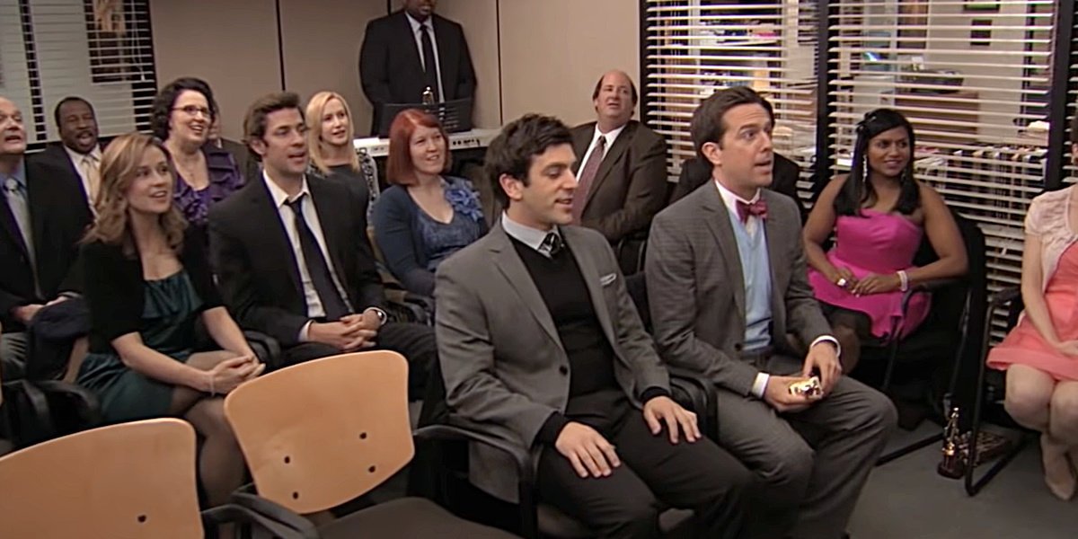 The cast singing Rent to Michael on The Office.