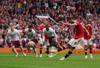 Pierre-Emerick Aubameyang scoring his 50th goal for Arsenal