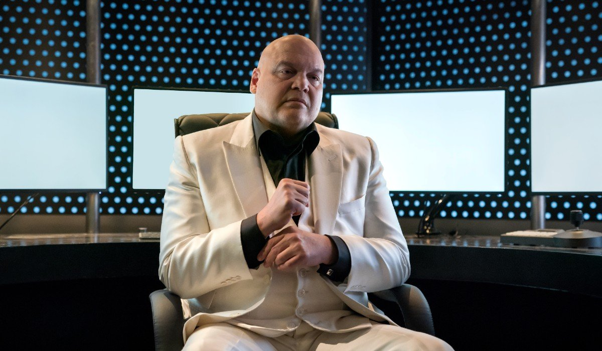 Wilson Fisk sitting at a chair