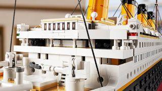 Lego Titanic close up