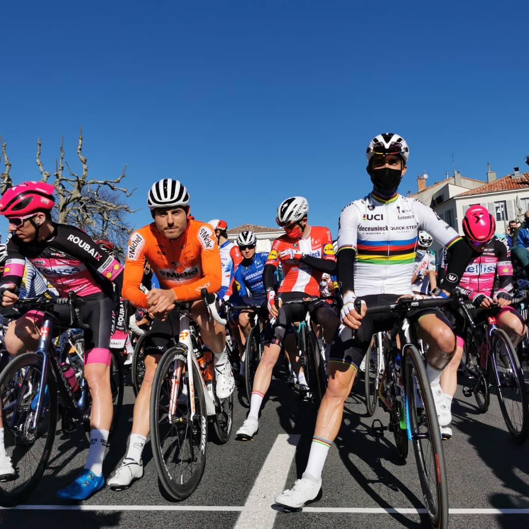 Julian Alaphilippe on the start line at the Tour de la Provence