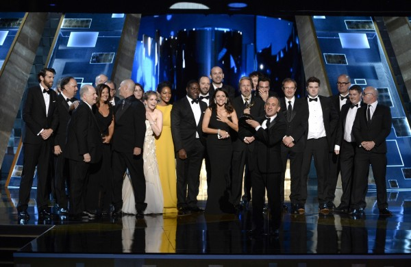 The Veep team on stage (Phil McCarten/AP)