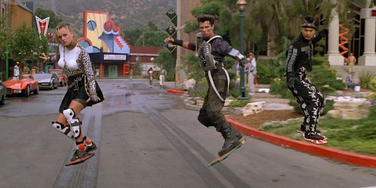 hoverboard sequence in Back to the Future 2