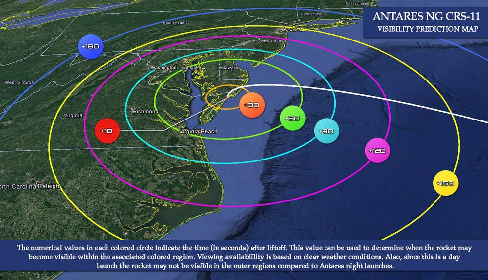 A Rocket Launch to the Space Station Today Could Be Visible Along US East Coast!