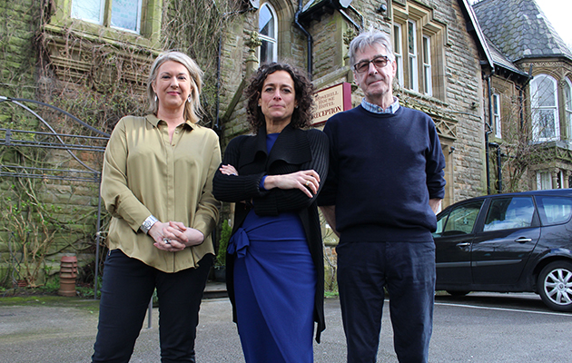 The Hotel Inspector C5 - Hoteliers and Alex outside Rosehill House Hotel Burnley