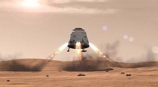 SpaceX's Dragon on Mars art