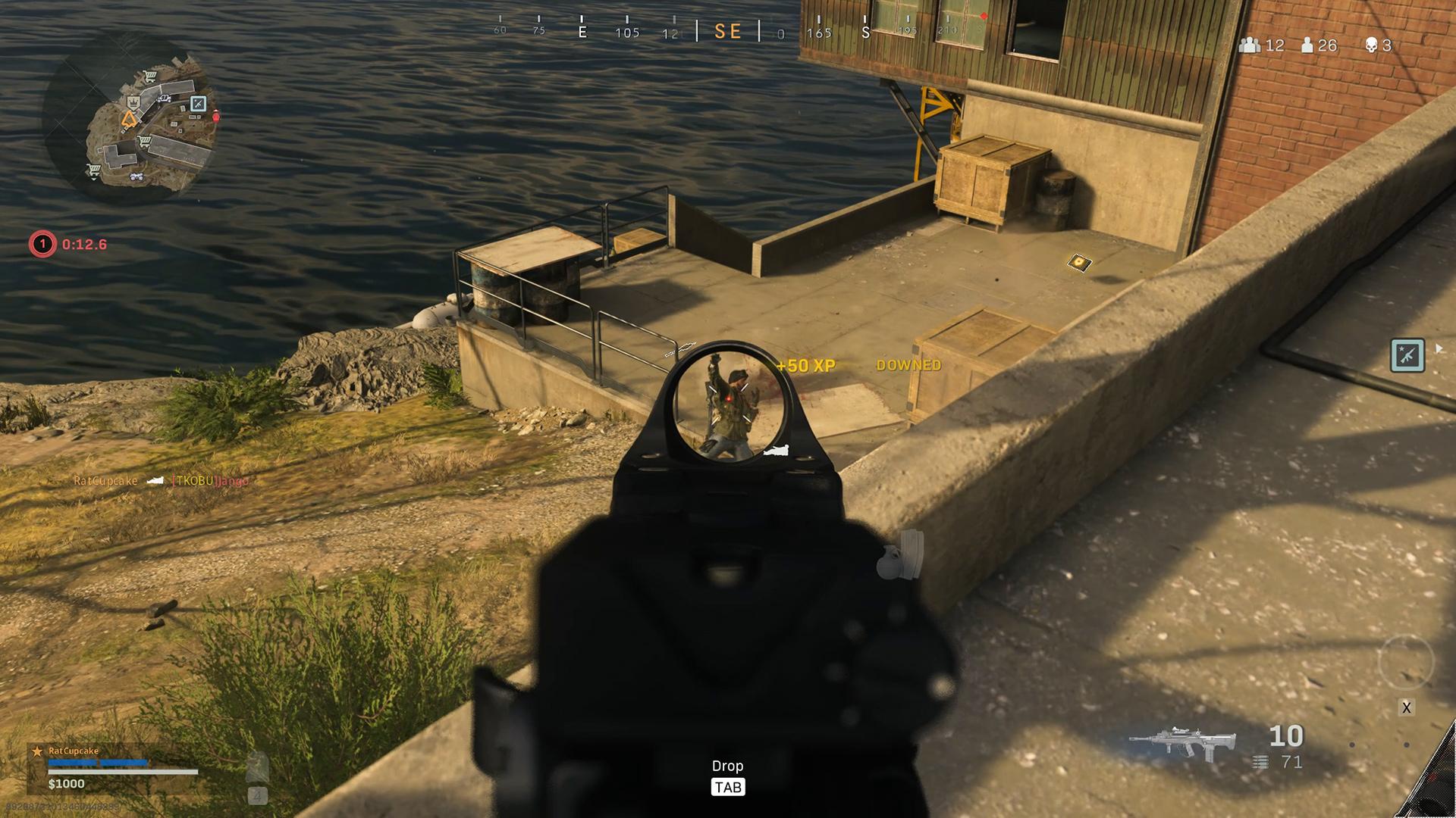 best Warzone loadout - An enemy on Rebirth Island is gunned down