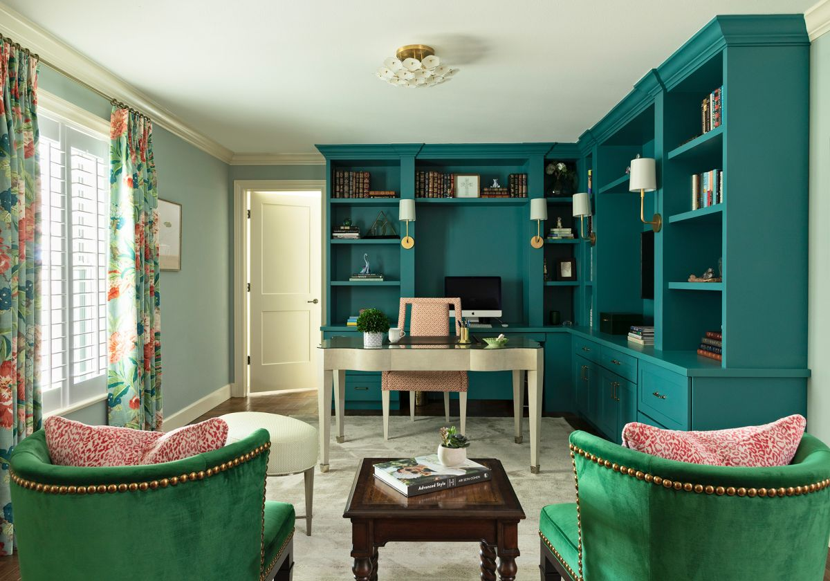 See this colorful, eclectic home in Florida, with an inspiring use of green