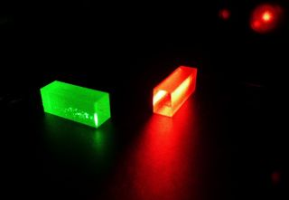 These crystals captured and stored quantum information at the end of the teleportation.