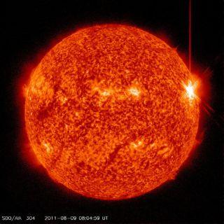 major solar flare august 9