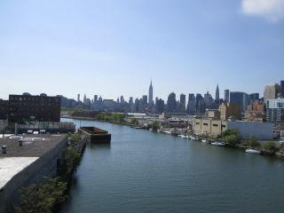 Newtown Creek, which opens into New York City's East River, accumulated toxic waste during its time as an industrial hub. An underground oil spill nearby seeps into the water, and when heavy rains flood New York City's sewer system, raw sewage pours into