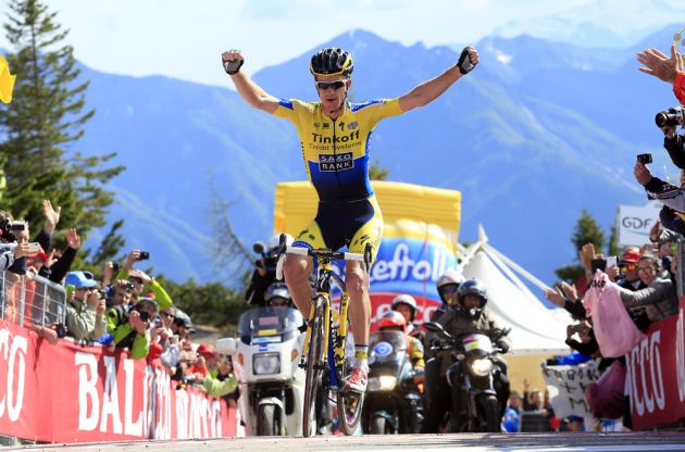 Michael Rogers wins stage twenty of the 2014 Giro d'Italia