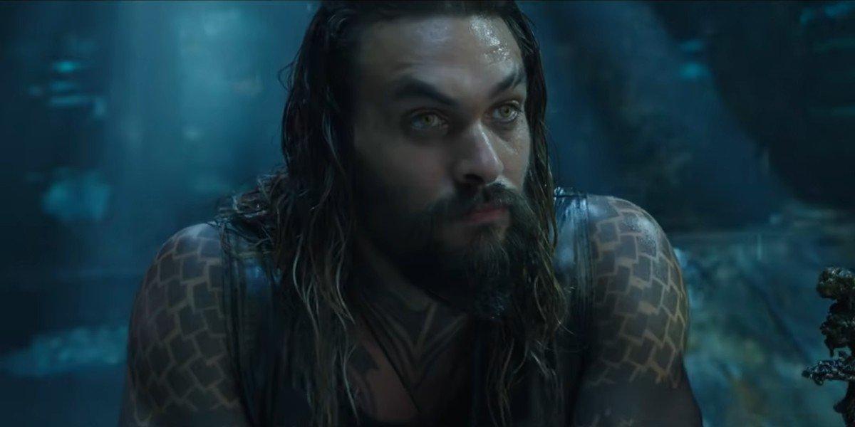 Aquaman listening to Nudidis Vulko's plan in Aquaman