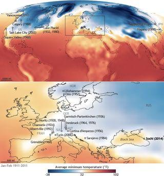 Sochi warm temperatures